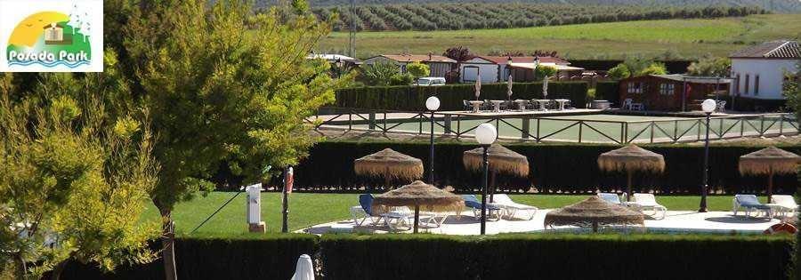 Park La Posada mobile home park in Spain, bowls green