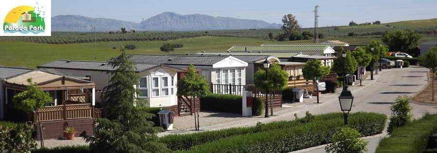 Park La Posada mobile home park in Spain mountain view