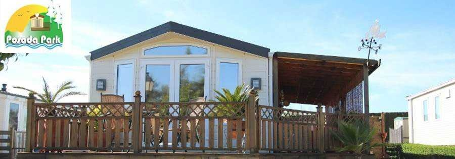 Mobile homes in Spain on a residential mobile home park. Willerby Vogue resale mobile home