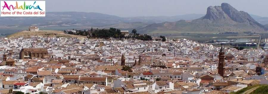 Mobile homes in Spain on a residential mobile home park. View of Antequera