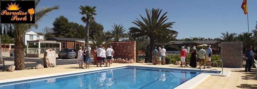 Swimming Pool Paradise park mobile homes in spain