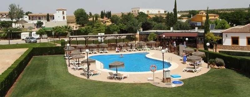 Mobile home park La Posada in Spain. The swimming pool