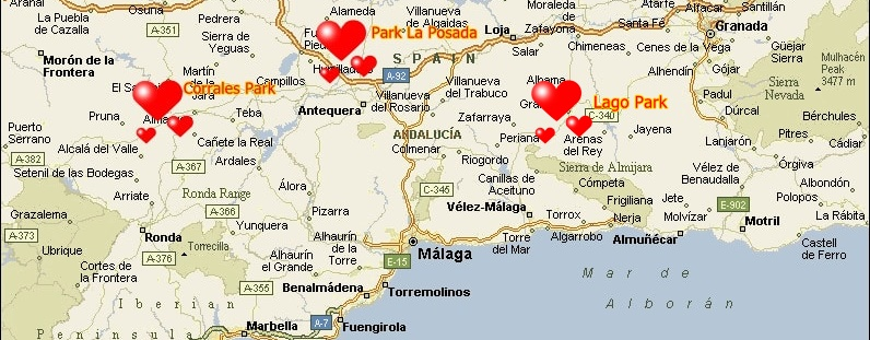 The mobile home parks in Spain. Costa del Sol