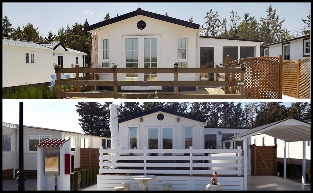 Park homes with decking built
